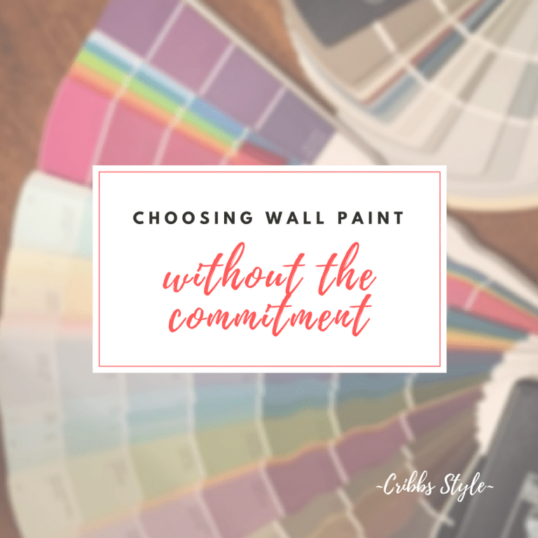 Choosing wall paint without making the commitment.