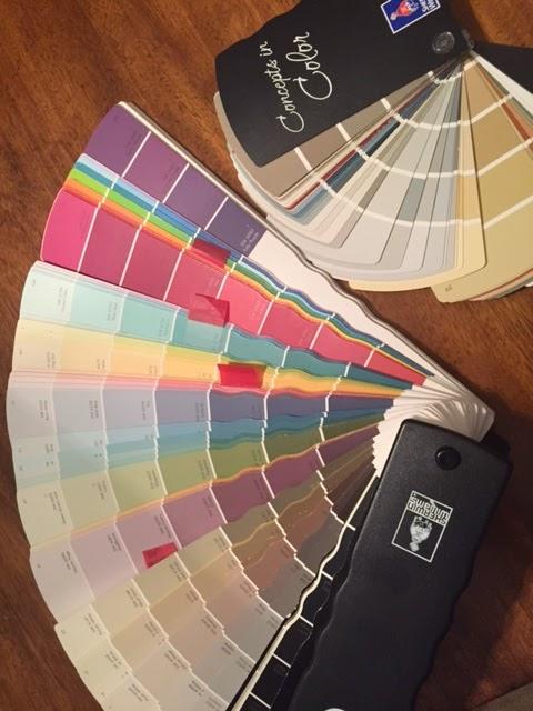 Paint samples, paint