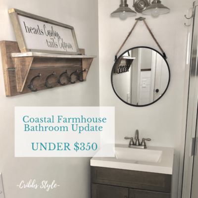 Coastal Farmhouse Bathroom Update for Under $350