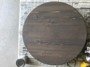 stain has dried and now itu0027s time to decorate