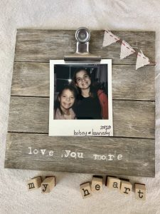 Inexpensive farmhouse photo frame.