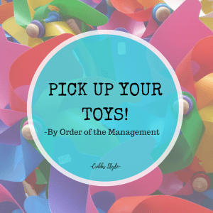 Kids toys, organization, storage solutions.