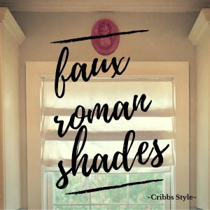 DIY, faux roman shades