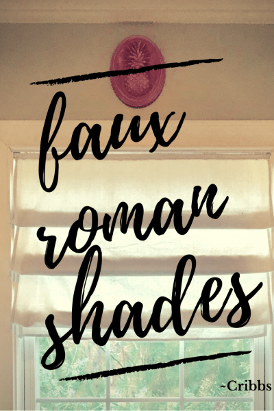 DIY, faux roman shades