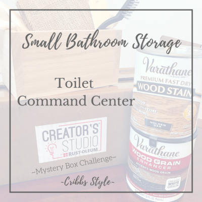 Small Bathroom Storage- Toilet Command Center
