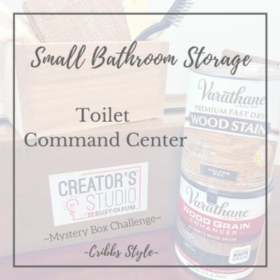 Small Bathroom Storage- Toilet Command Center