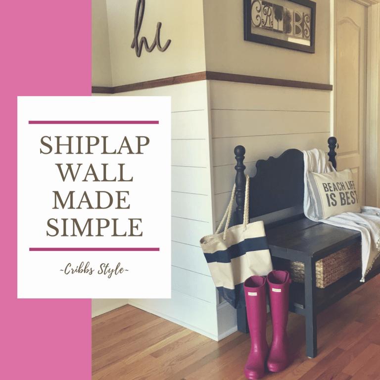 Shiplap Wall Made Simple