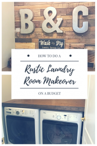 Laundry room, storage solutions, rustic, farmhouse