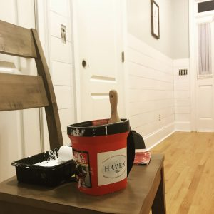 Shiplap wall, farmhouse, rustic, pantry, foyer
