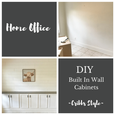 Home Office: Built In Wall Cabinets