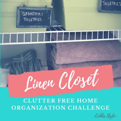 Clutter Free Home Organization Challenge- Linen Closet