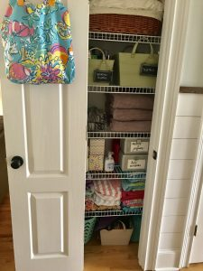 Linen closet, closet organization, storage solutions