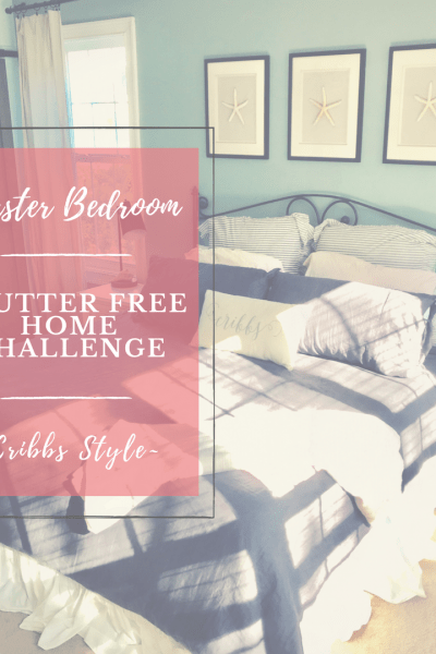 Clutter Free Home Organization Challenge- Master Bedroom