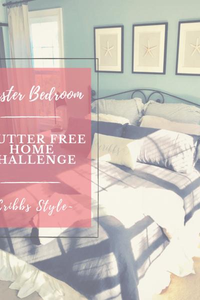 Master Bedroom, Clutter free living, intentional living.