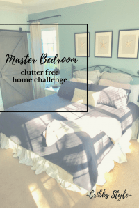 master bedroom, clutter free, intentional living