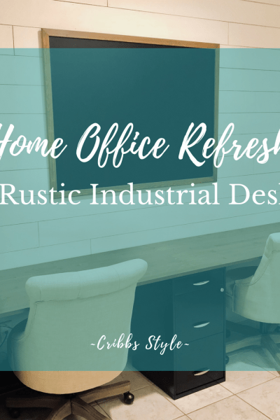 Home office desk, modern farmhouse desk, rustic industrial desk