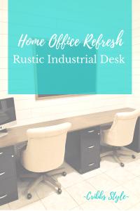 Home office desk, modern farmhouse, rustic industrial desk