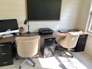 Home office Desk, modern farmhouse desk