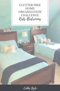 Clutter Free kids rooms.