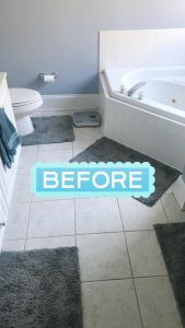 Master Bathroom renovation, master bathroom before.