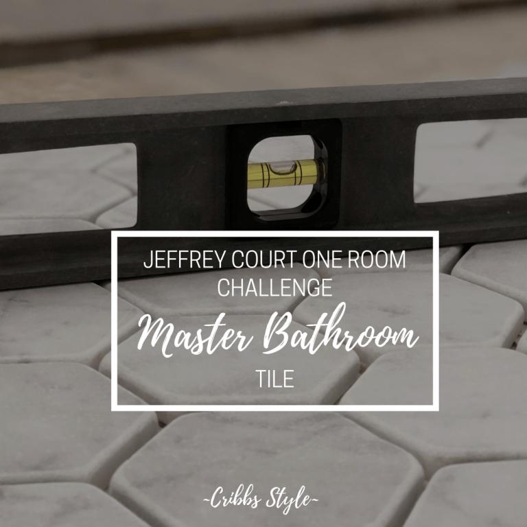 One Room Challenge- Master Bathroom {Laying Tile}