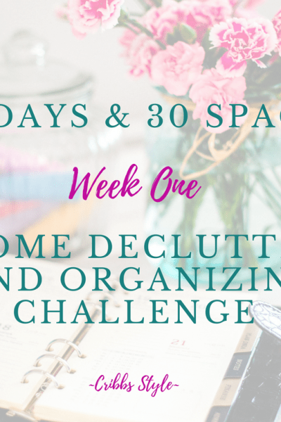 Home declutter and organizing challenge