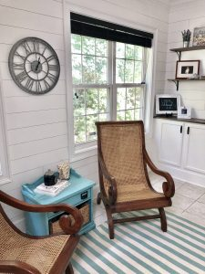 Coastal farmhouse, home office