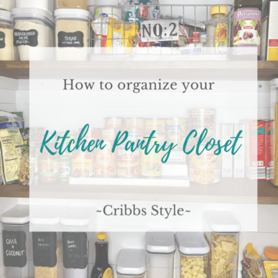 How we designed and organized our kitchen pantry closet.