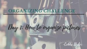 Home declutter and organization challenge.