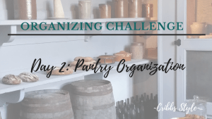 declutter and organization