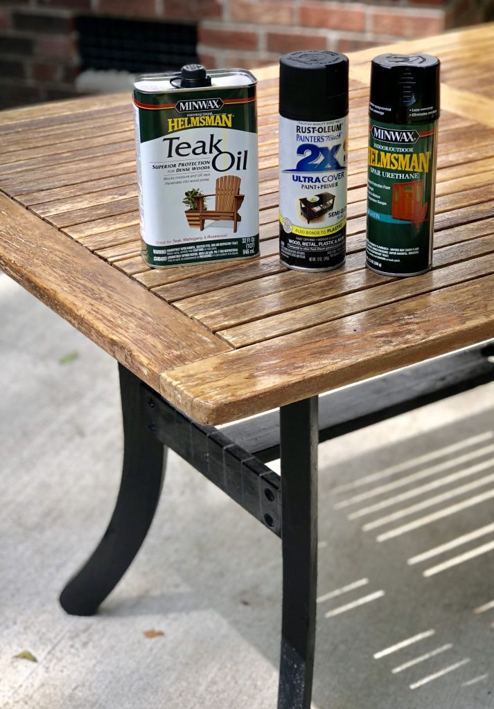 Easy Teak Table DIY Refinish Project