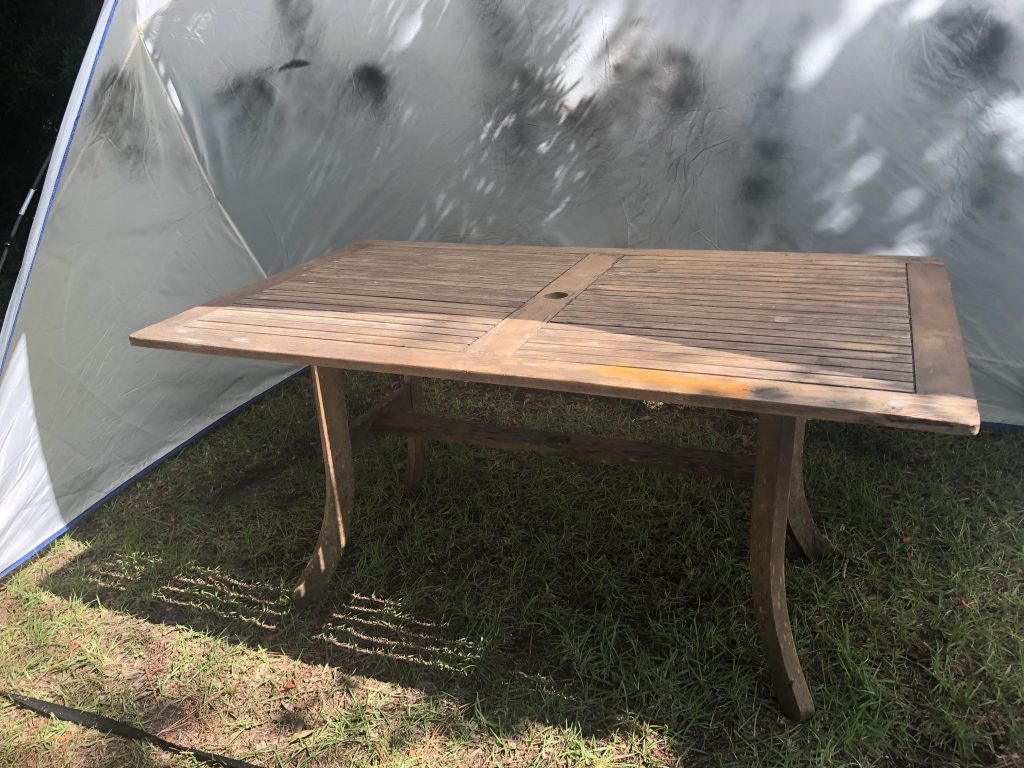 Easy Diy To Give A Rustic Touch To A Dying Teak Outdoor Table Cribbs Style