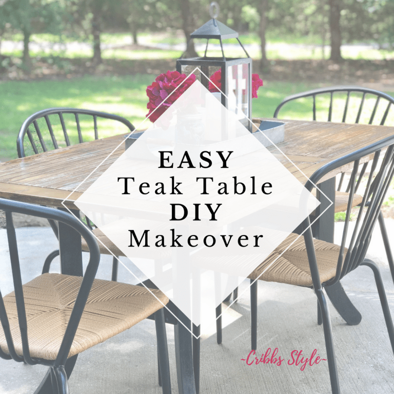 Easy DIY to give a rustic touch to a dying teak outdoor table