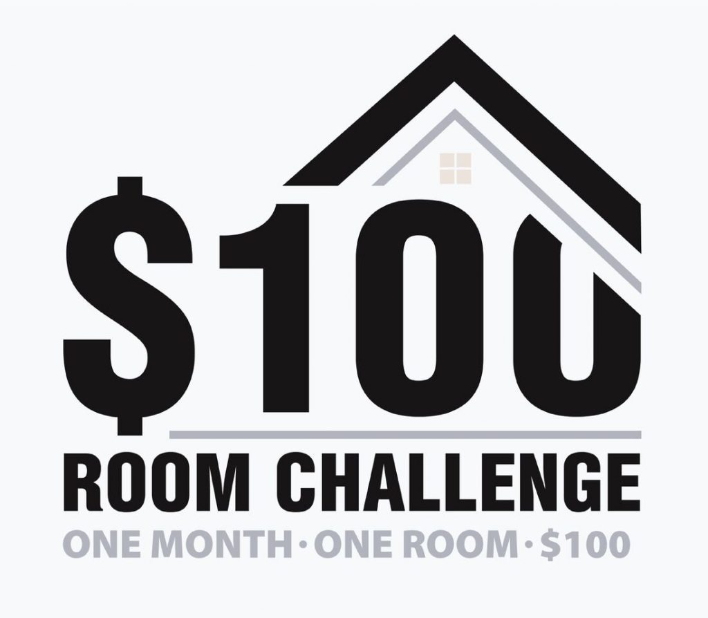 Budget DIY, $100 Room Challenge