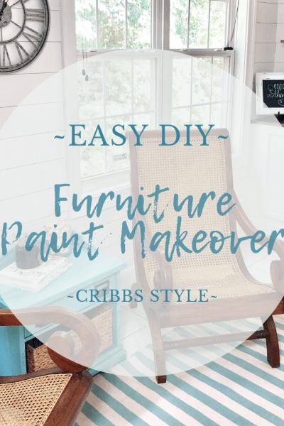 DIY furniture makeover, faux finish
