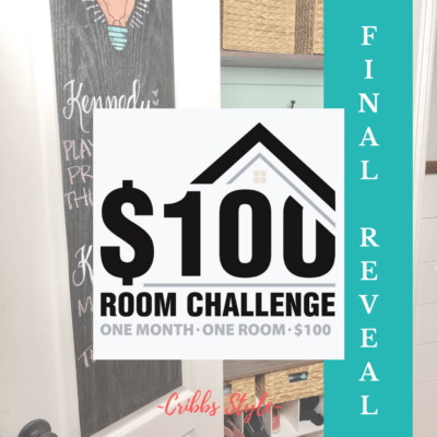 $100 Room Challenge- Hall Closet Makeover Reveal