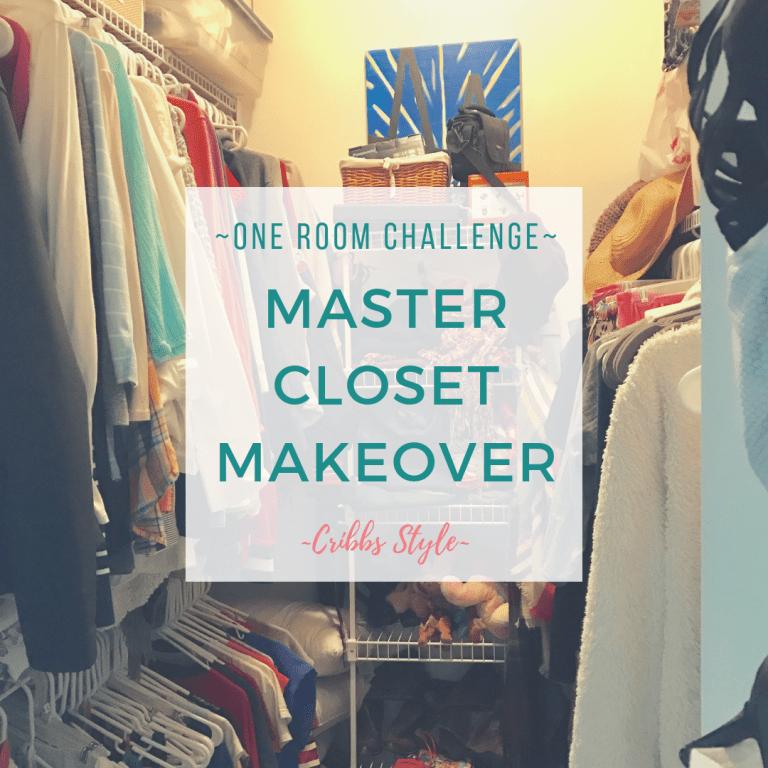 One Room Challenge Week 1- Master Closet Makeover