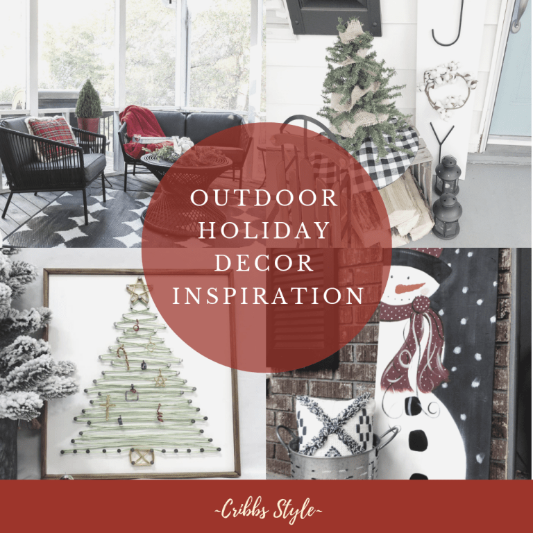 Super cute and easy holiday porch inspiration