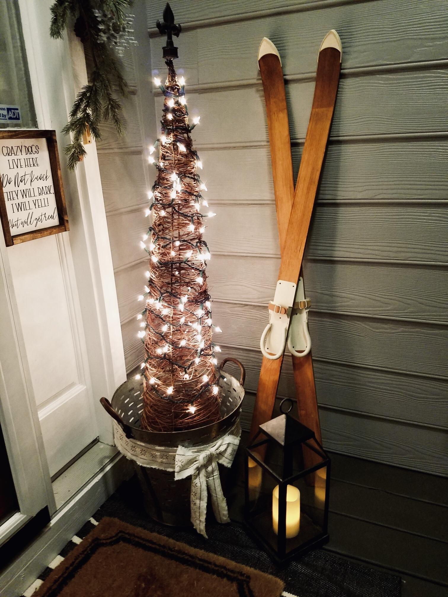 Budget Friendly Christmas Porch Decor