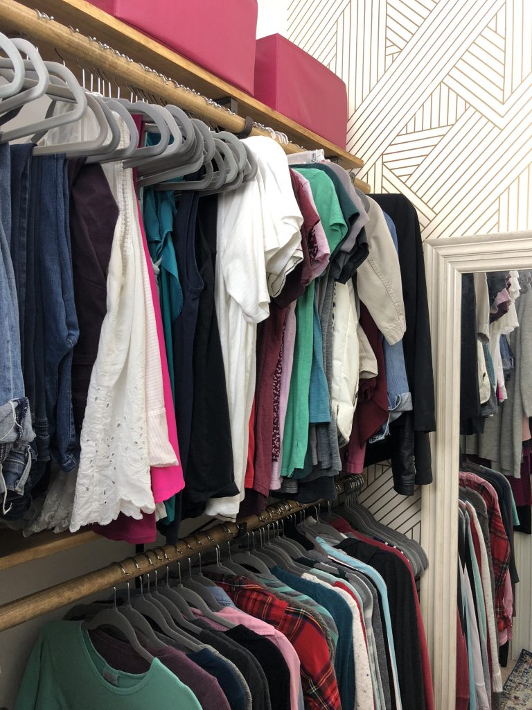 Master Closet Makeover Reveal