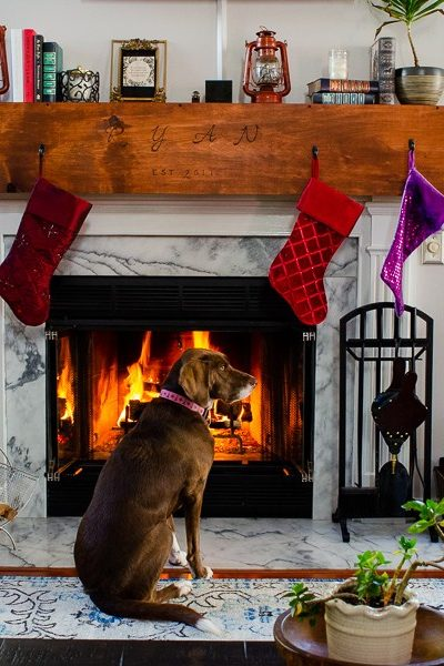 Deck the home holiday feature project: Wood Wrapped Mantle
