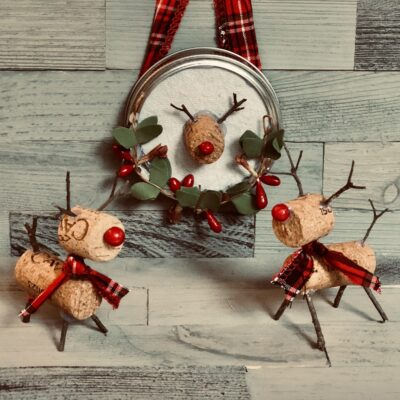 Easy wine cork deer craft