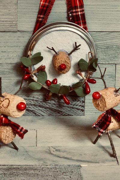 Easy wine cork deer craft