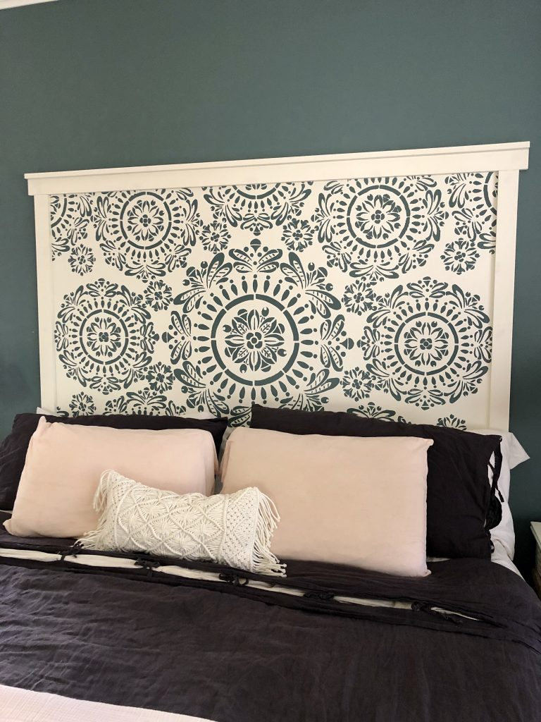 Faux Hand Carved Wood Inspired Headboard