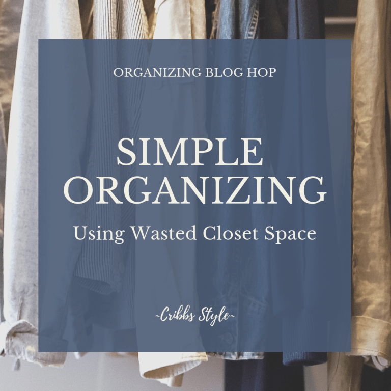Simple Organizing Using Wasted Closet Space