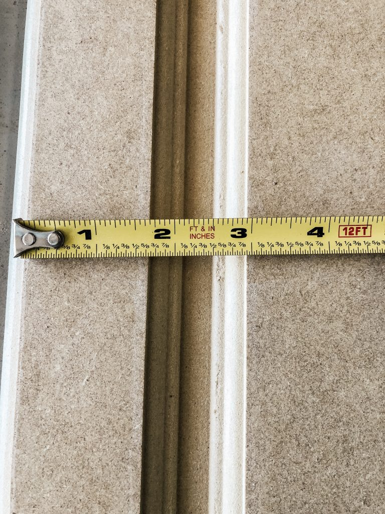 Measuring for the design of the cabinet reface.