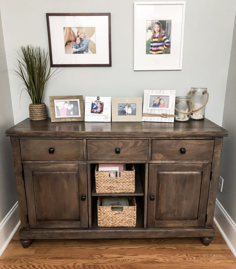 How to strip and stain furniture for a coastal farmhouse look.