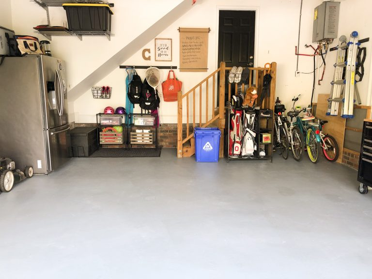 Painted Garage Floor Final Reveal.