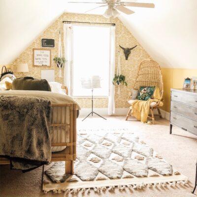 Boho Chic Teen Bedroom Reveal- One Room Challenge Guest Post