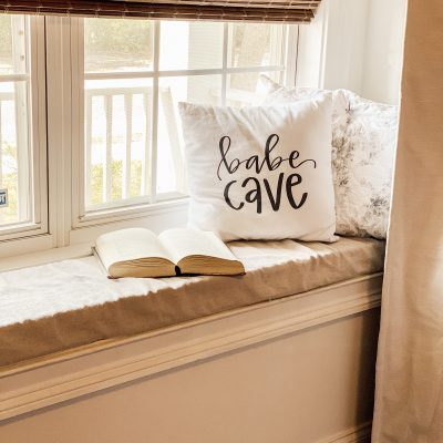 Easy No Sew Window Seat Cushion Cover